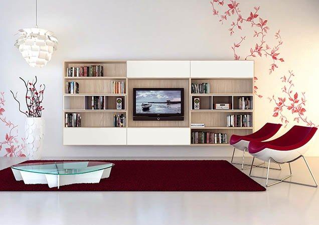 Librerie su misura treviso carretta arredamenti for Librerie pareti attrezzate