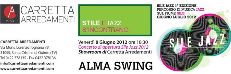 Sile e Jazz nello showroom di Carretta Arredamenti